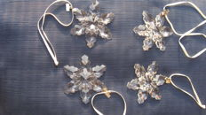 Lot of 4 Swarovski Christmas stars 2008