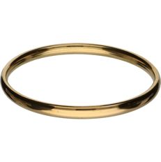 14 kt Yellow gold bangle bracelet - diameter: 63.5 mm