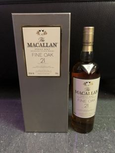 Macallan 21  Fine Oak with Luxury Grey Box