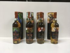 4 bottles - The icons of Arran: Peacock, Rowan Tree, Westie & Golden Eagle
