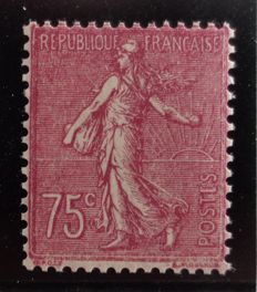 France 1924/32 - Semeuse lined variety 75 cents Type II - Yvert n°202a