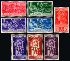 Italy, Kingdom, 1930/1939 - Lot, complete series - Sass. No.  S53, S56, S60, S92, S95