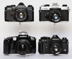 4 analogue SLR cameras