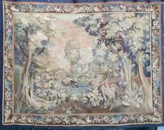 An Aubusson tapestry - tapestry of verdure with motifs of birds and herons in classical landscape - France - 18th century