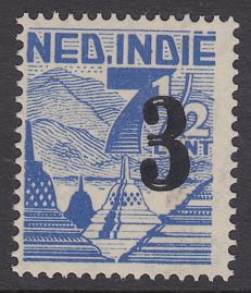 Dutch East Indies 1947 - Aid issue with double overprint - NVPH 323f