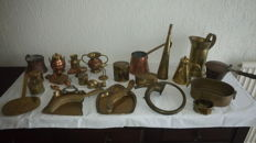Collection of 26 old/antique copper objects