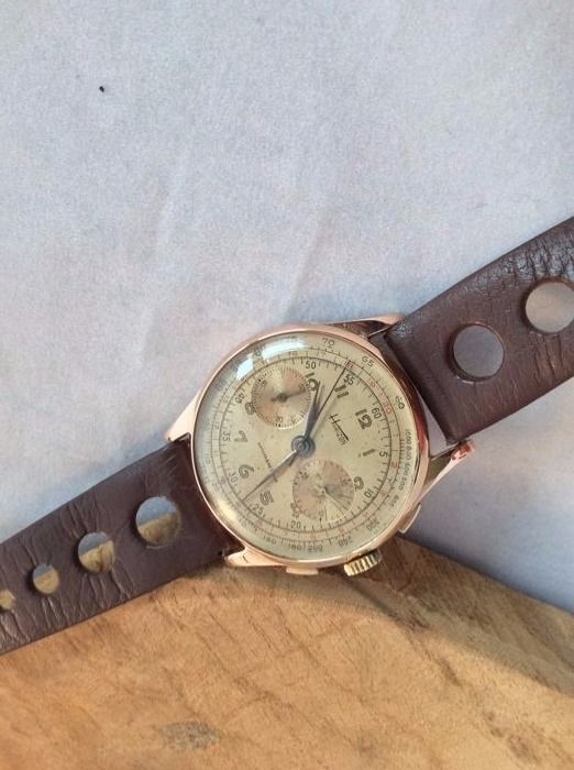 Chrongraphe Suisse - Chronograph 18k Merk Horizon. - Heren - 1950-1959