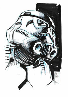 Stormtrooper By Ramon Bachs - Original Drawing