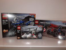 LEGO 40 Year Technic 3 pack - 42063 + 42061 + 42057 - BMW R 1200 GS Adventure + Telehandler + Ultralight Helicopter