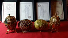 Joan Rivers - imperial treasures collectors egg 4 pieces with certificate of authenticity, rarely offered