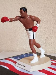 Muhammad Ali (RIP) - hand signed limited edition Salvino Sports legends porcelain figurine (produced 1990)  in brand  new displaycase + COA
