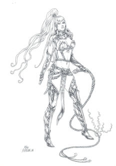 Ratera, Mike - Original drawing - Elven Warrior Princess #4 - Warhammer - (2008)