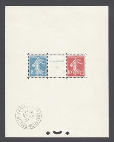France 1927 - Strasbourg Philatelic Exhibition souvenir sheet - Yvert n° 2