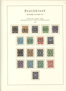 Allied Occupation - 1945-1949 - complete collection with all 52 with all item Spirula imprints, buildings close / far and block 1 on album pages
