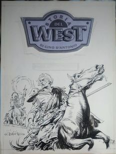 D'Antonio, Gino - original illustration for Storia del West