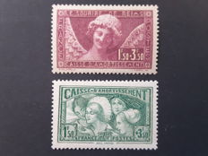 France 1930/1931 - In aid of the Caisse d'Amortissement - Yvert no. 256 and 269
