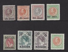 Suriname 1873 - Aid issue - NVPH 15, 34/36 and 37/40