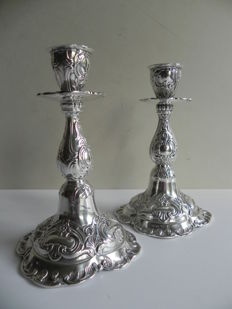 Set of silver candle stands, GEWE, Malmö Sweden, 1971