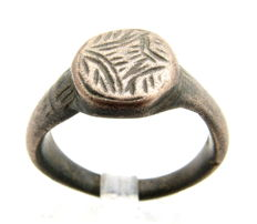 Holy Land - Knight's period religious ring with stylized Star of Bethlehem - Wearable Gift with Gift Bag - 18 mm