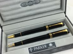 Parker Duofold International fountain pen + rollerball 75 years Dutch Edition