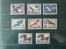 Austria 1950/1953 - bird series - Michel 955/987