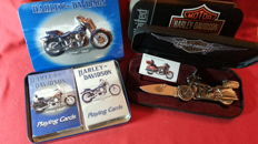 Harley Davidson Mes en speelkaarten collectors items