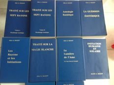 Esotericism; Lot with volumes 10 of A. Bailey - 19741991