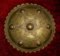 Peurisse Batak, bronze shield - Sumatra - End 19th/early 20th century