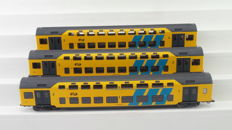 Artitec H0 - 20.177.01/20.178.01/20.178.02 - Set of three double-decker carriages DDM-1, 1st/2nd class of the NS