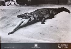 Helmut Newton (1920-2004) - Crocodile eating ballerina, Wuppertal (1983)