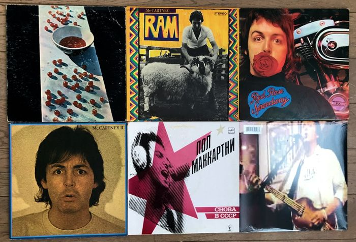Paul McCartney Lot Of Six Original Lps One Which SEALED Unplayed I