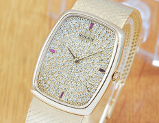 Rolex Cellini 18K Solid Gold Paved Diamonds Dial Women's Watch!