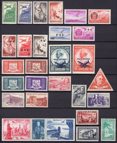 Monaco 1905-1986 – Set of stamps from the end of the catalogue.