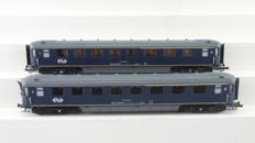 "EloTrains H0 - 100.52-A/100.52-B - 2-piece carriage set 1st and 2nd class ""Plan K"" of the NS"