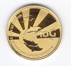 "The Dutch Antilles - 10 guilder 2007 ""Year of the Dolphin"" gold"