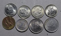Portugal Republic – 8 Copies – 4 Centavos 1917 – 20 Centavos 1920 – 50 Centavos 1926/1947/1962/1968