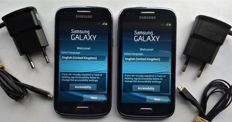 Lot of 2x Samsung Galaxy Core T-i8260 with Samsung chargers