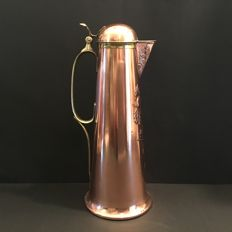 Gebrüder Bing - Art Nouveau Carafe Pitcher Copper Brass