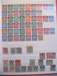 Large batch stamps BRD Germany DDR German Empire 1920/1990 - and occupied territories