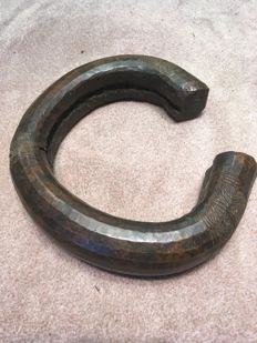 Very beautiful large means of exchange in ancient Bronze - FANG - Gabon
