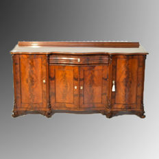 Servante/sideboard - Biedermeier - mahogany and mahogany feather - Northern Europe - ca. 1840