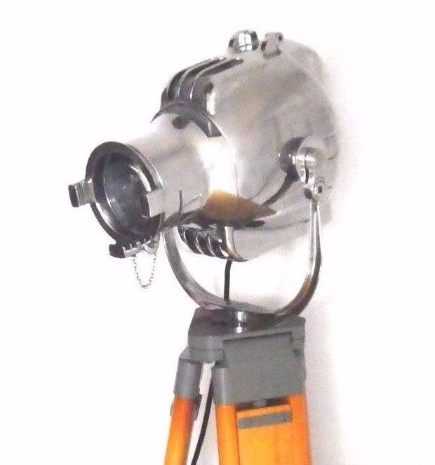 Strand Electric - vintage Theatre Spot Light / Lamp with Wood Tripod