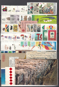 China 1983 – Complete year, stamps, sheets, card  (1983年票)
