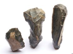 Neolithic tools from the Netherlands 5.5 - 10.5 cm (3)