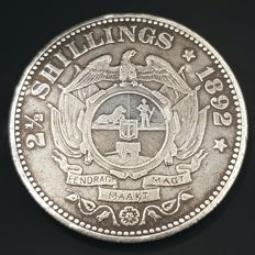 South Africa - 2½ Shillings 1892 'Paul Kruger' - silver
