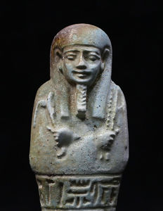 Egyptian faience Ushabti for the priest of Smentet Padiusir - 130 mm