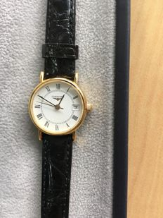 LONGINES – LADIES' WATCH IN 18 KT GOLD – 2008 – never worn