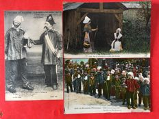 France - Normandy theme: Ethnology, types and costumes, selection of 72 postcards