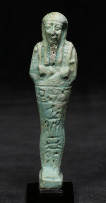 Egyptian faience Ushabti for Pasinebu - 109 mm