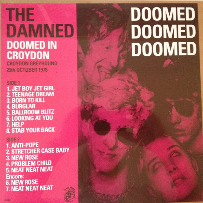 "The Damned Very Collectable Live Recordings LP ""Doomned Doomned Doomned"""